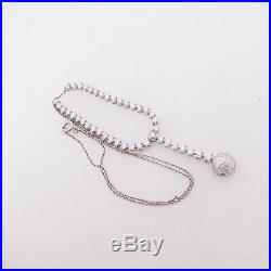 18ct gold 3.60ct diamond pendant necklace art deco design