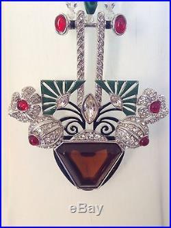 ART DECO 89 TM B271 FAMOUS Pendant Necklace BP in Sylvie Raulet Art Deco Jewelry