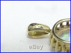 Anhänger pendant 585 GOLD Beryll Opal opale Kette necklace Art Deco pendentif