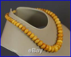 Antique Art Deco Egg Yolk Natural Baltic Butterscotch Amber Necklace 31. G Choker