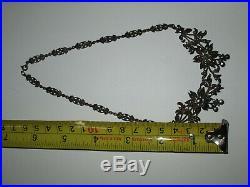 Antique Art Deco Sterling Silver Marcasite Necklace Choker NOT SCRAP