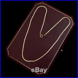 Antique Vintage Art Deco 14k Yellow Gold Fancy Link Slider 20 L Chain Necklace