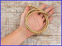 Antique Vintage Art Deco Retro Sterling Silver Gold Wash Italian Torque Necklace