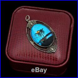 Antique Vintage Art Deco Sterling Silver HOFFMAN Butterfly Wing Necklace Pendant