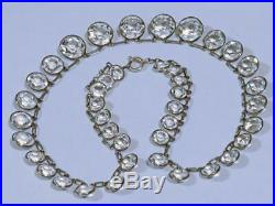 Art Deco Open-back Bezel Set Diamond Paste Riviere Necklace