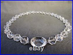 Art deco rock crystal quartz necklace with large crystal pendant art deco rock crystal quartz necklace with large crystal pendant clasp aloadofball Images