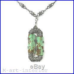 Art Deco Silber Anhänger Collier Kette Necklace Theodor Fahrner Pforzheim 1930