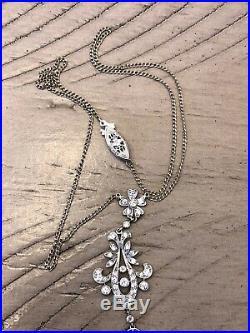 Art Deco White Gold 14k Diamond Necklace