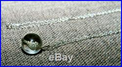 Beautiful Old Small Antique Art Deco'pool Of Light' Rock Crystal Necklace