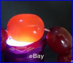 Beautiful Quality Art Deco Cherry Amber Bead Bakelite Necklace 115 G