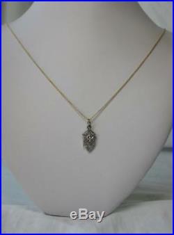 Diamond Lavaliere Art Deco Necklace Edwardian White Gold Wedding Victorian