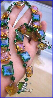 Exceptional Art Deco Dragons Breath Geometric Necklace