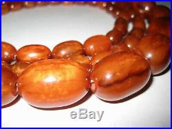 Lange echte Bakelite Kette Faturan Beads Art Deco Necklace 165 gramm getestet