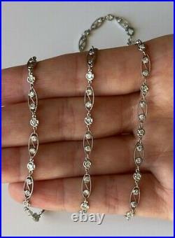 Platinum Art Deco Style Diamond Necklace 2.60 ct. 23 H Color VS Clarity