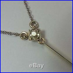 Stylish Antique Art Deco Platinum, 15ct Gold, Diamond & Onyx Pendant Necklace