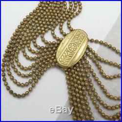 Vintage 1930s Art Deco Festoon Dangle Swag WIDE Collar Necklace