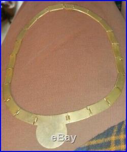 Vintage 1930s Art Deco Fine Enamel French or German Necklace Original BOOK PIECE