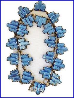 Vintage Antique Art Deco Czech Vauxhall Mirror Step Glass Paste Necklace
