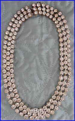 Vintage Art Deco Czech Slovakia Rhinestone Choker Necklace