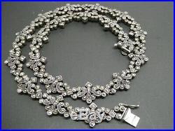 Vintage Judith Jack Marcasite Art Deco Sterling Silver 925 Choker Necklace 17
