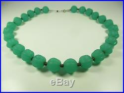 WMF Ikora Glasperlen Collier Vintage Kette 30er Boheme necklace Art Deco x46 N4